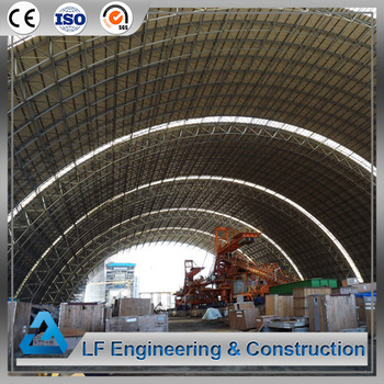 Prefab coal storage light steel space frame