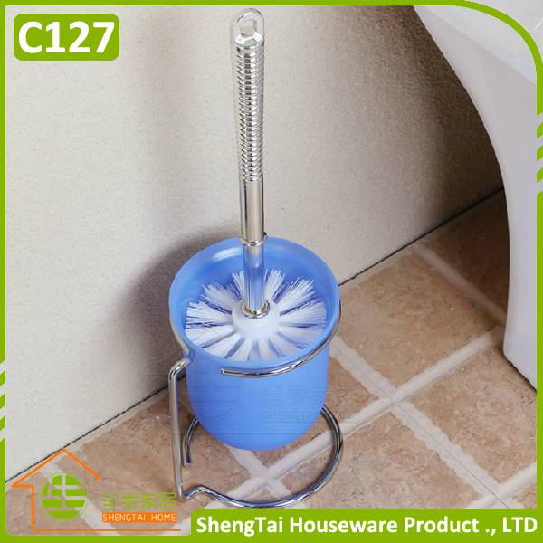 Stainless Steel Bathroom Bowl Cleaning Brush With Holder
