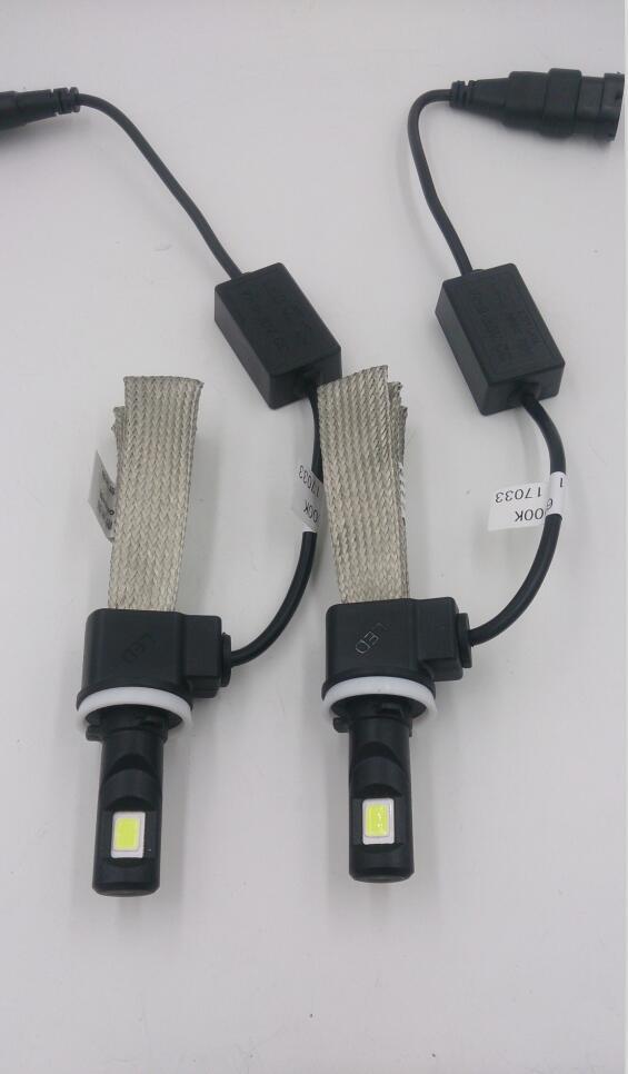 High Quality Hot Sale Fanless Lumen 4500lm COB Car LED Headlight