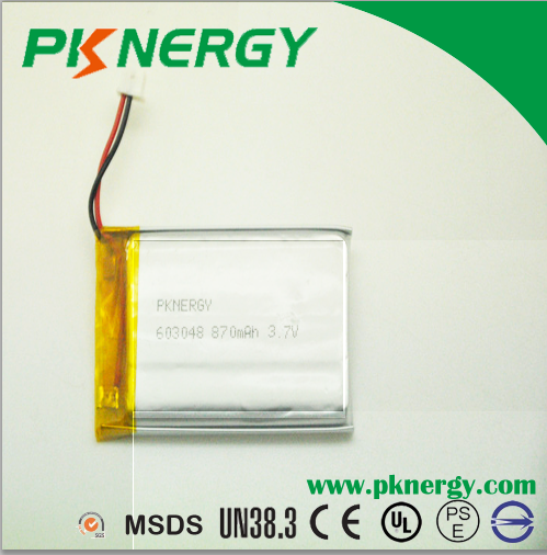 Lithium Polymer Battery 603048 3.7V 900mAh Rechargeableaa Lipo Batteries for Smart Watch