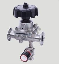 Diaphragm valve with a sampling valve,Sampling diaphragm valve,stainless steel sampling diaphragm v