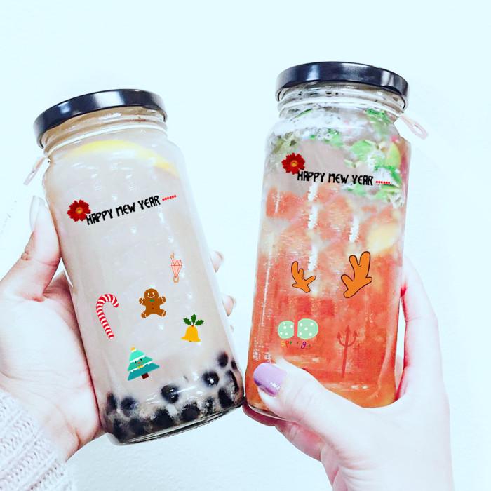 25oz Glass Jar for Milk Tea Ice Cream