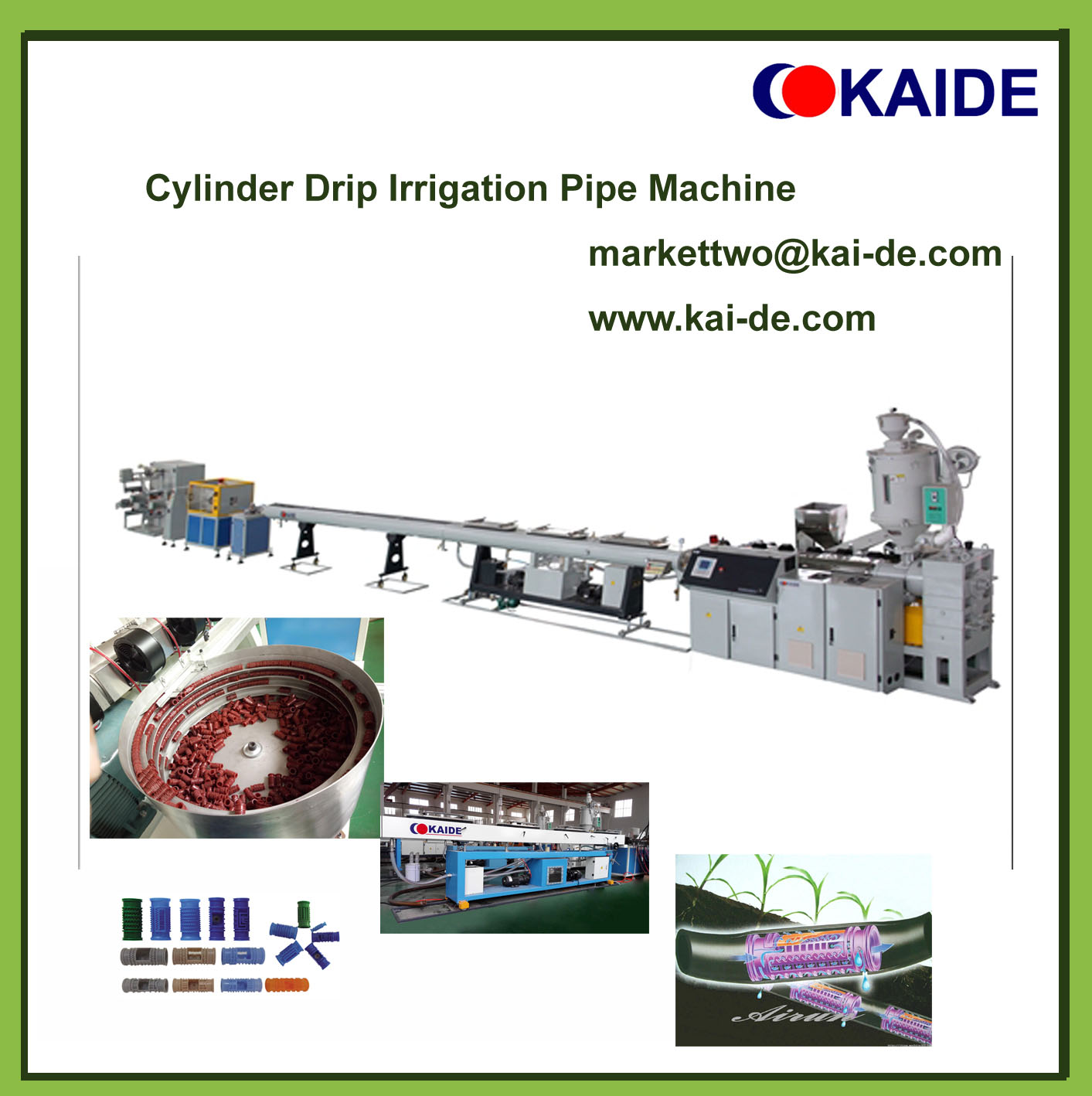 Round dripper irrigation pipe production line (whatsapp 86-13705369780)