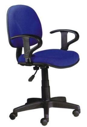 Blue fabric economic task office chair
