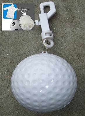 Golf Ball Shape Rain Coat