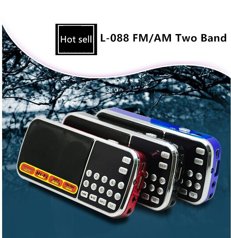 Export hot style L-088AM mini rechargeable digital am fm radio