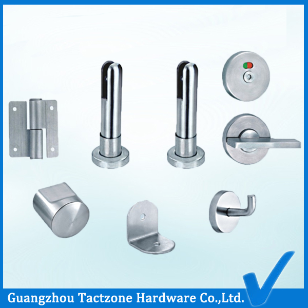 Elegant Precision Casting Toilet Partition Stainless Steel 304 Accessories