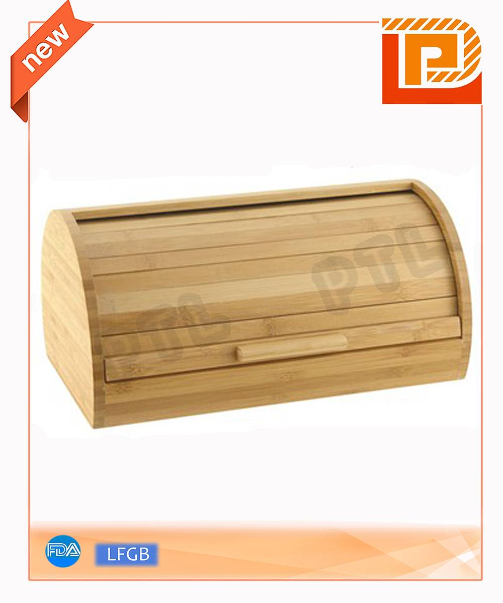 bamboo food holder with operable door