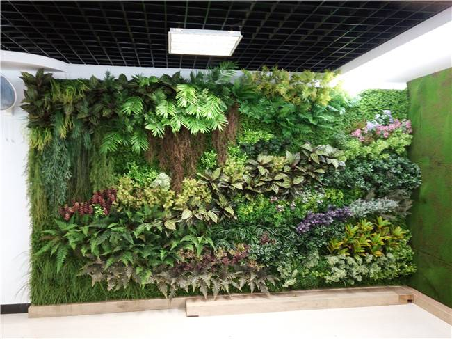 Vertical Garden Artificial Green Wall , Home Garden Artificial Grass