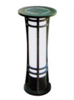 waterproof solar lawn light bollard light
