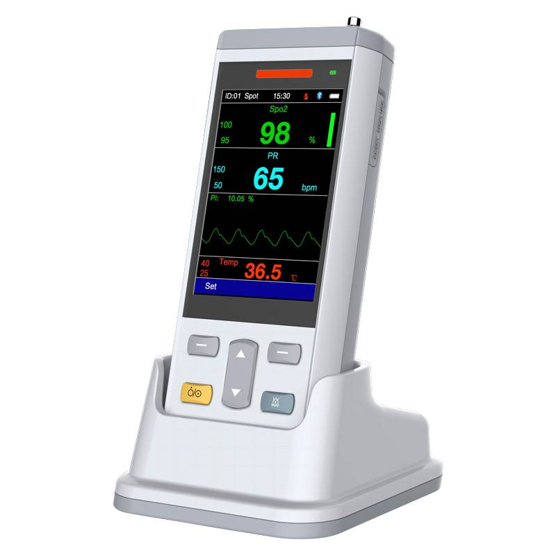Handheld pulse oximeter with temp