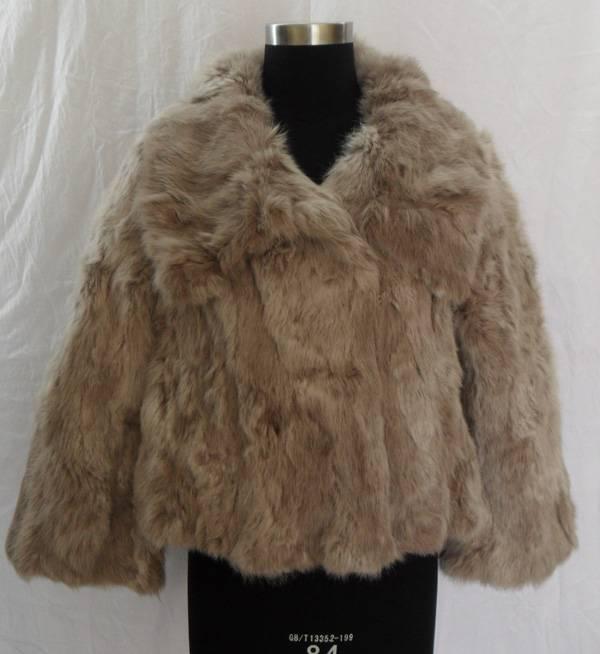 rabbit scrap fur coat