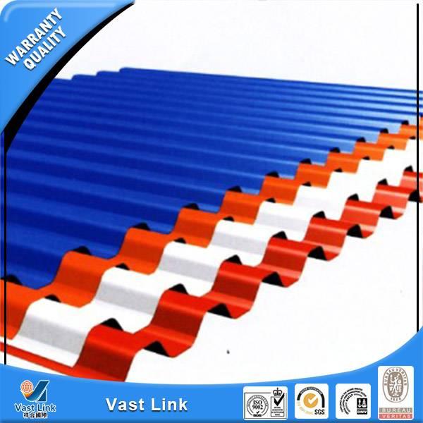 Prepainted corrugated steel sheet
