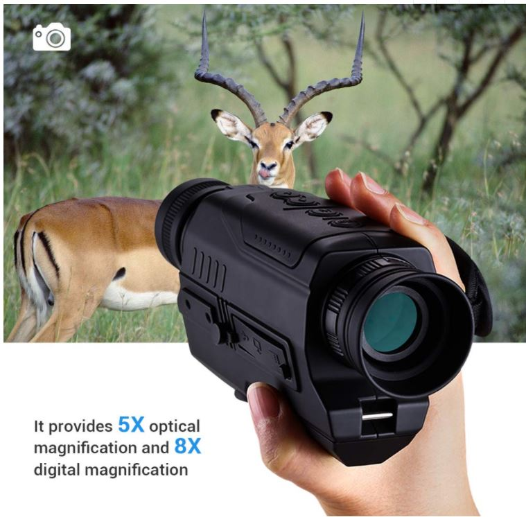 PJ2-0532 Monocular Device 5X Magnification Night Hunting Night Vision Telescope