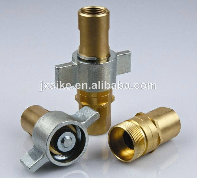 brass screw wing nut hydraulic quick coupling