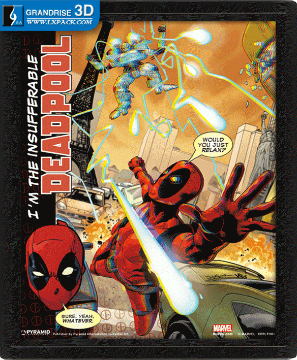 Deadpool Movie Poster Design To Be Lenticular Lens Effect