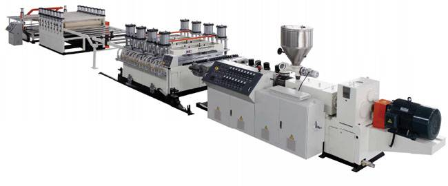 PVC skinning foamed board extrusion machine