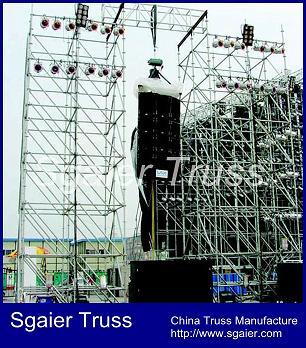 Hot speaker layer truss,layer scaffolding truss,Goalpost truss