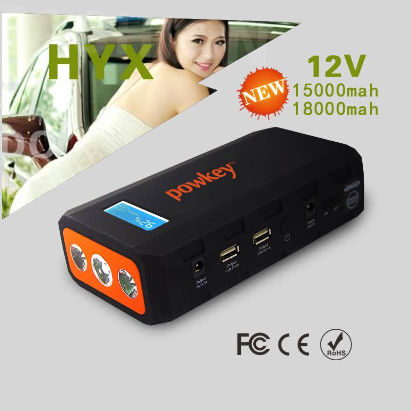 18000mah 12/24v 800A peak current portable mini car jump starter power bank for all used cars