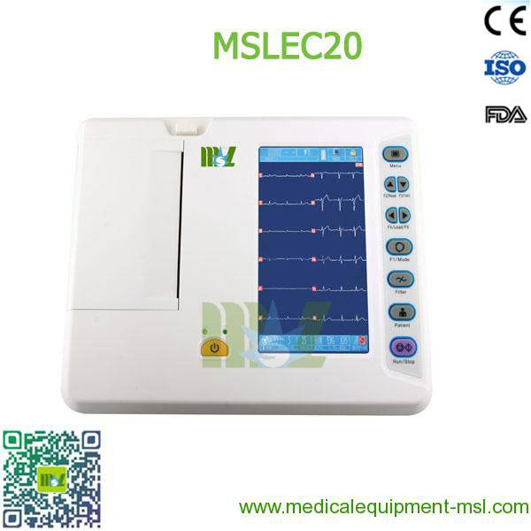 6-lead ECG recorders / Portable six lead ecg MSLEC20 for sale