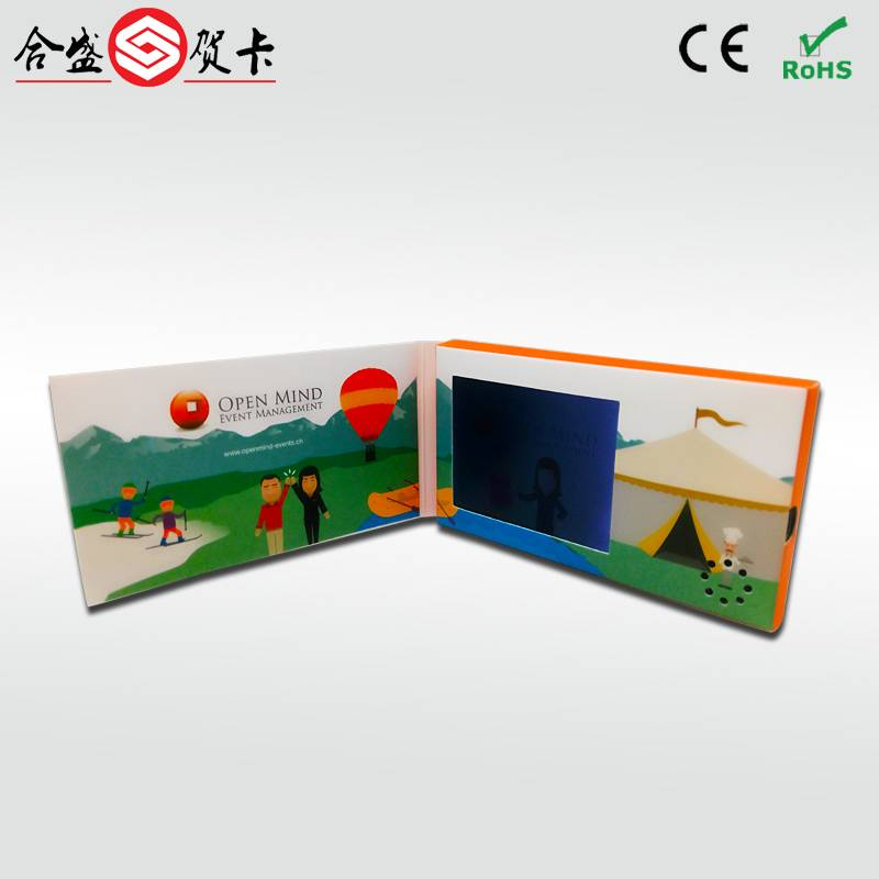 "fashion and best price 2.4"" video player greeting card"