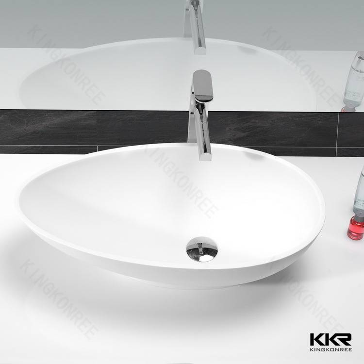 Resin stone solid surface hand wash basin design