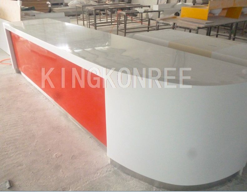 acryic solid surface high gloss modern work counter