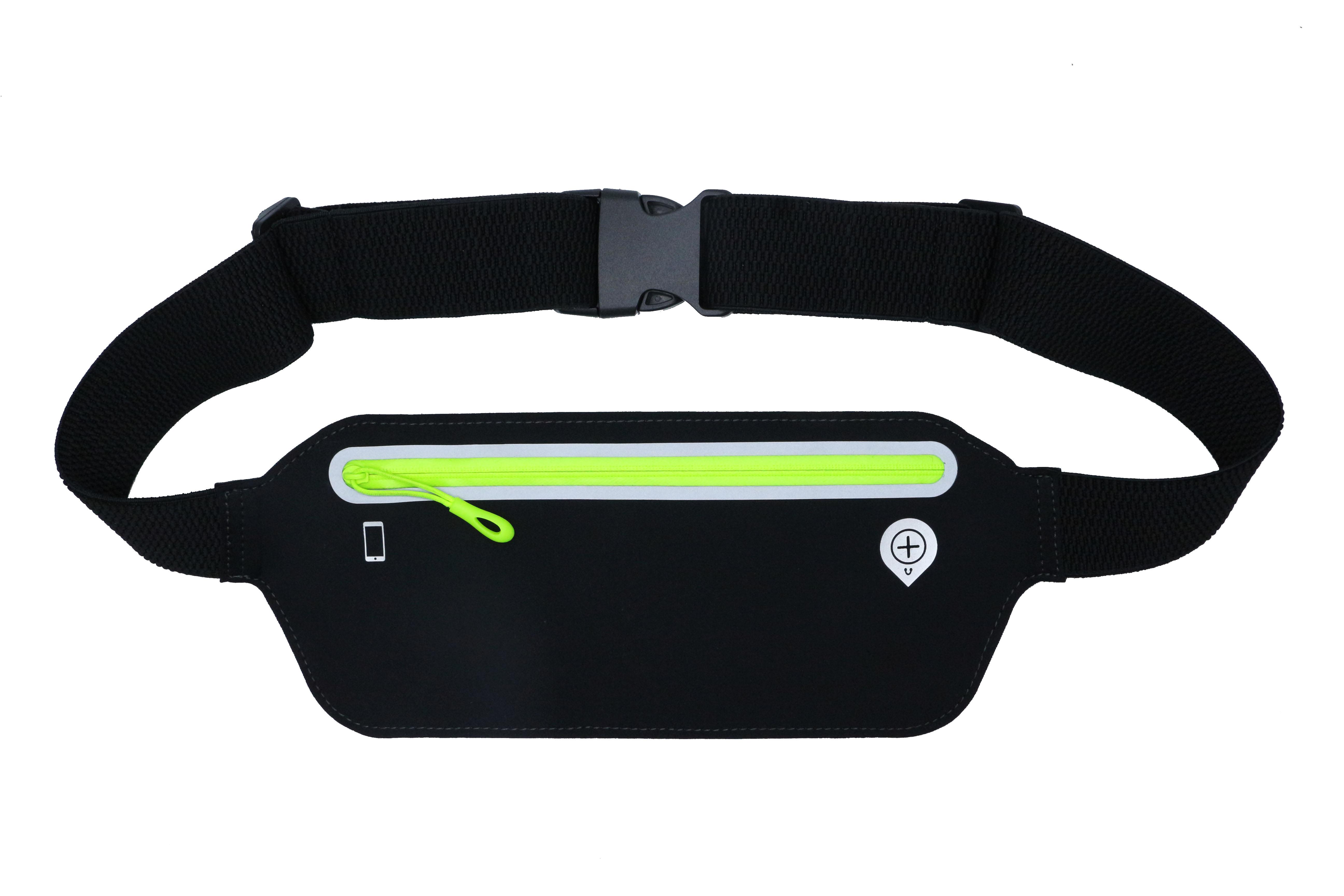 Black waist bag for running