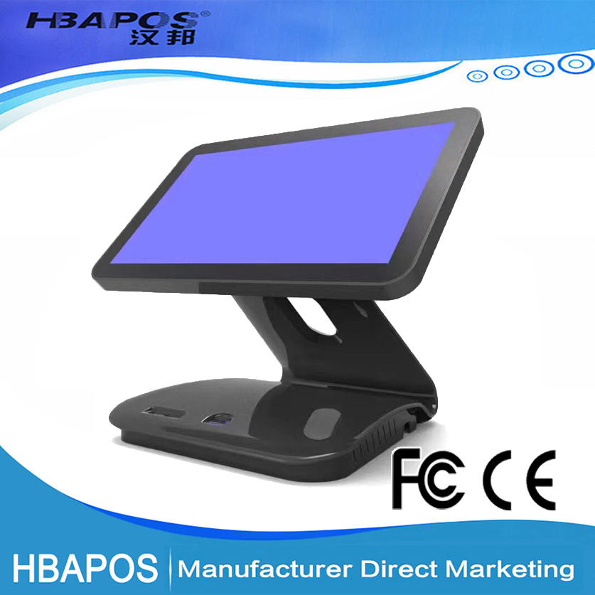 HBA-Q7 15 inch pos system double screen all in one cash register for Retail and Shopping mall