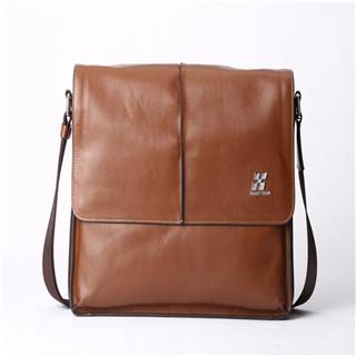Hautton Genuine leather shoulder bag men brown leather bags DB268