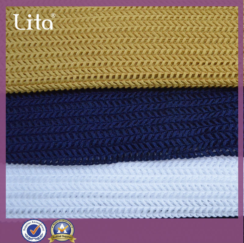 warp-knited woven Guilloche special design strech mesh fabric china supplier