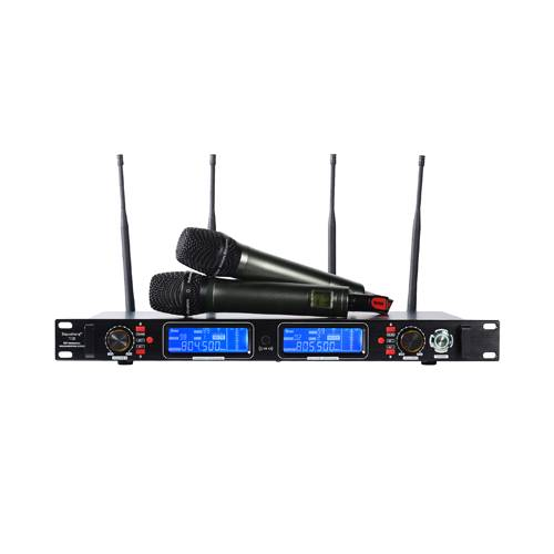 Ture Diversity UHF Handheld Wireless Microphone Dual-Channel Receiver Depusheng T-128 for Live Pefor