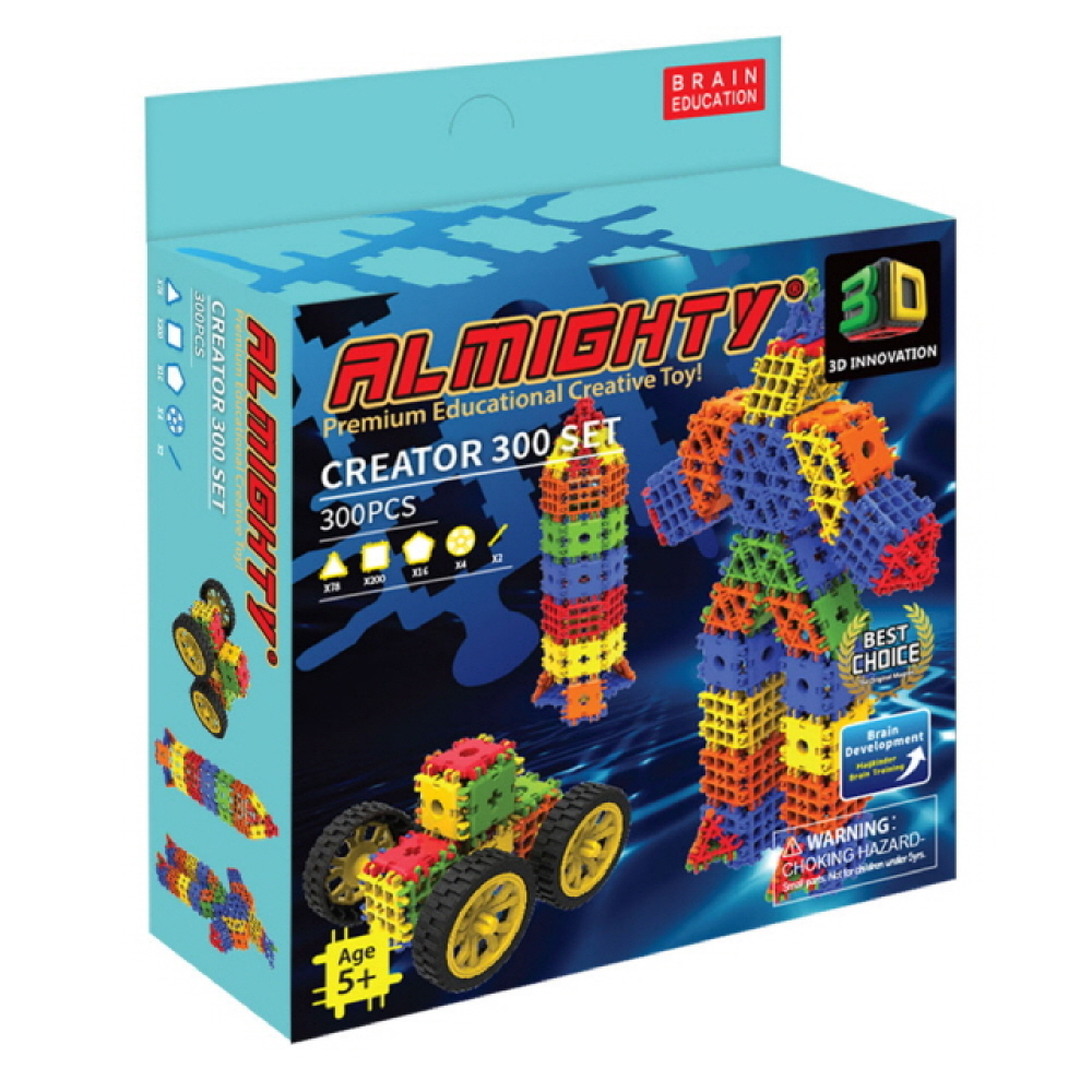 Magkinder 27mm Almighty Building Block Creator Set 300 PCS