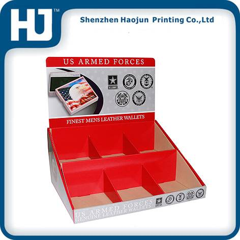 Wallets corrugated paper display box