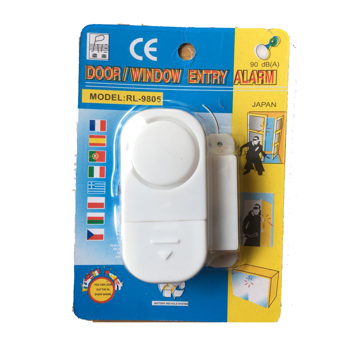 Magnetic Door Window Alarm/Door and Window Magnetic Sensor Open Detector