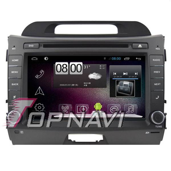 8 inch 2 DIN Android 4.4 Car  DVD Player For KIA Sportage With GPS Navigation 3G