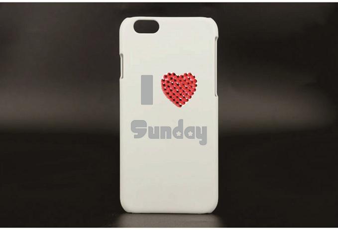Cell phone sticker - I heart Sunday