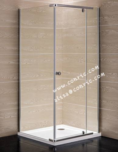 Chrome Aluminum Profile,Swing door shower enclosure with 6mm glass