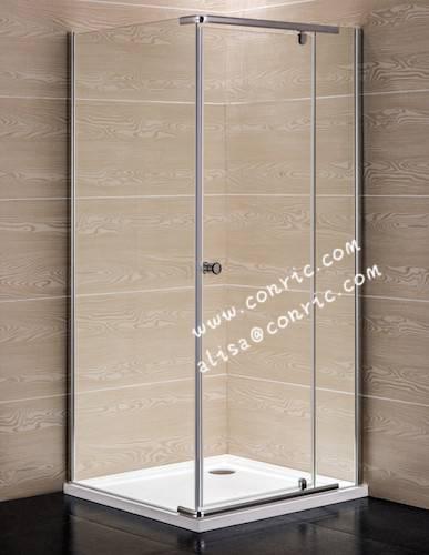 Chrome Aluminum Profile,Swing door shower enclosure with 6mm glass