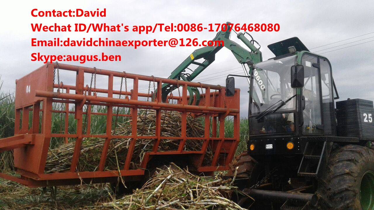 4 wheels sugarcane grab loader