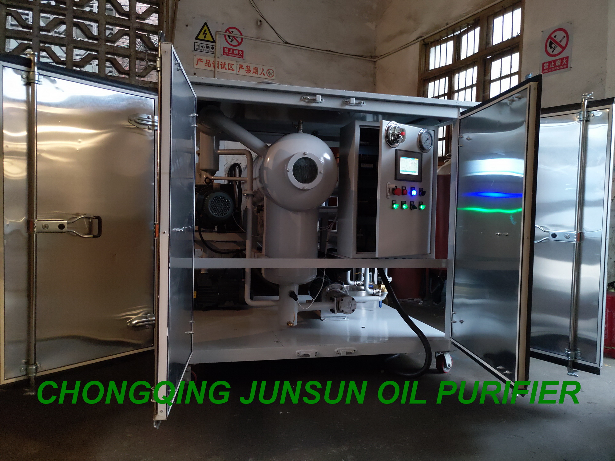 3000LPH Enclosed Type PLC Controlling Fully Automatic Transformer Oil Filtration Plant
