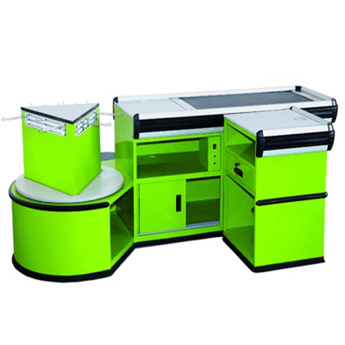 Luxury Style Electrical Checkout Counter With Belt CE certificated