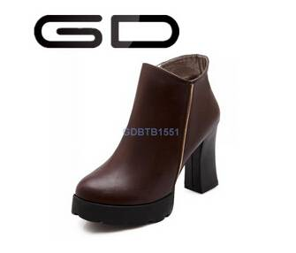 retro vintage round toe natural comfortable durable soles booties shoes for ladies