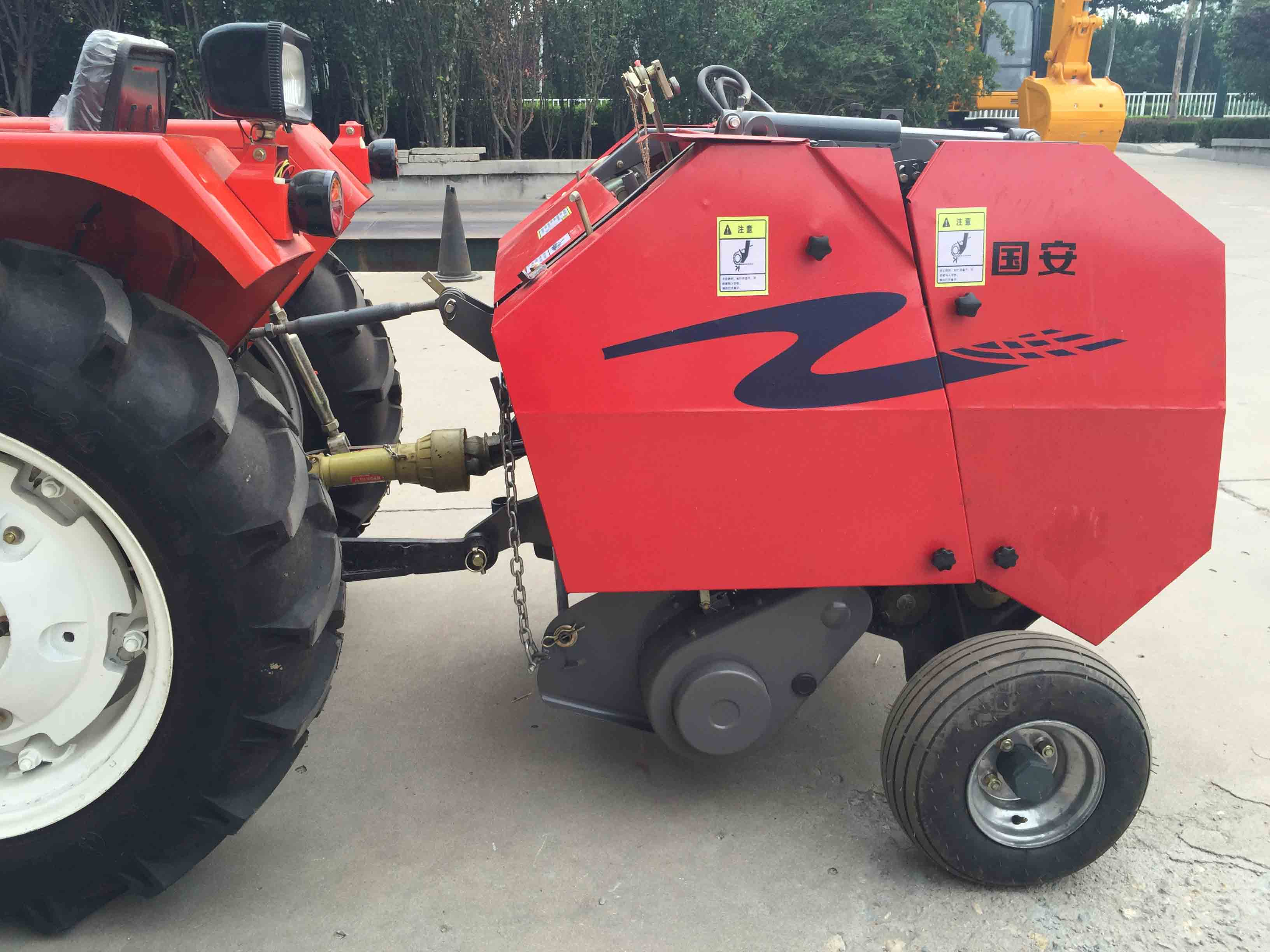 Manufacturer small round hay baler for rice straw