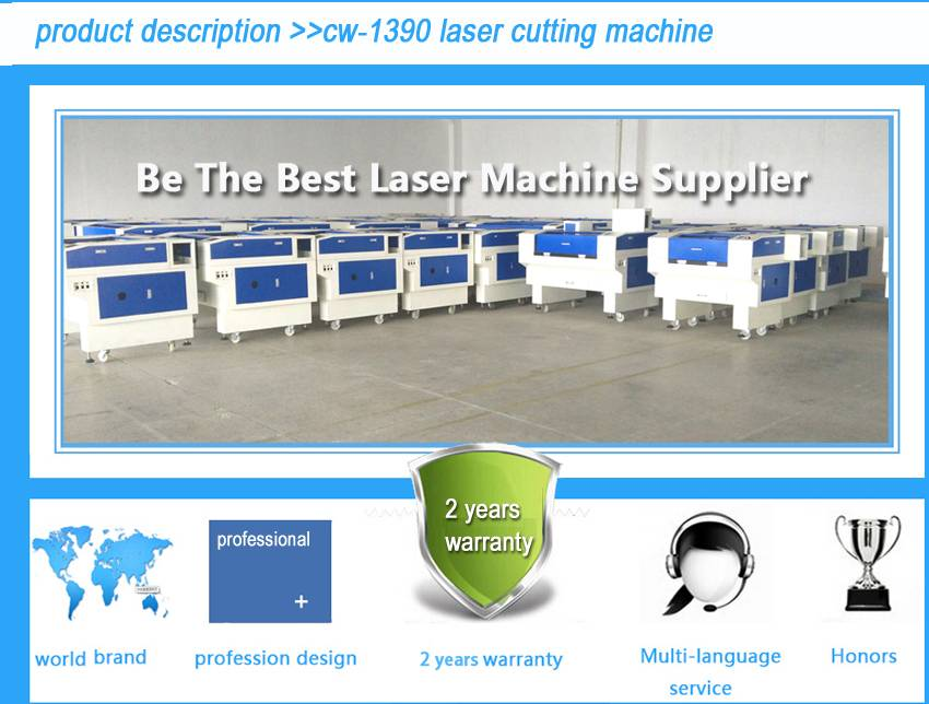 CW-1390 laser cutting machine