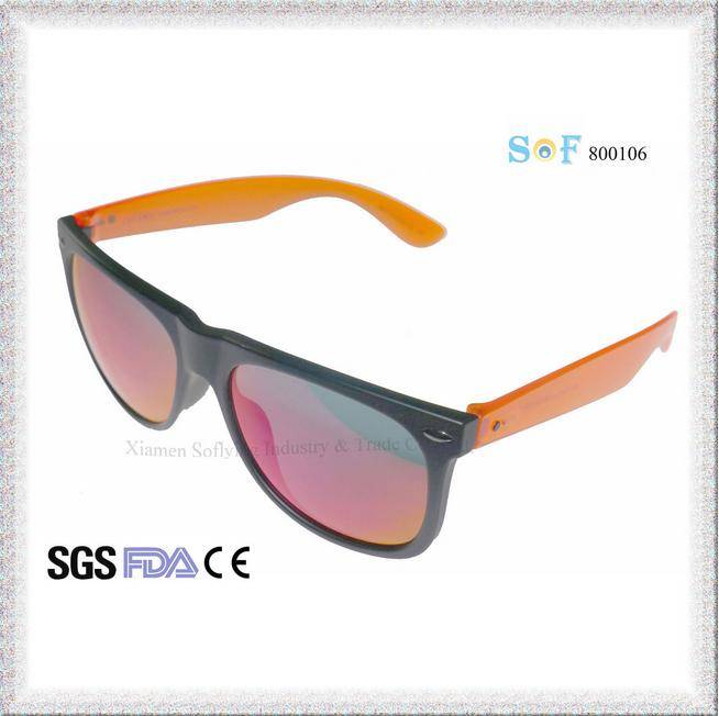 Top Seller Unisex Plastic Polarized Fashion Sunglasses with Revo Lenses OEM SOF800106