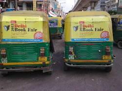 Auto Rickshaw Branding with vinyl pasting