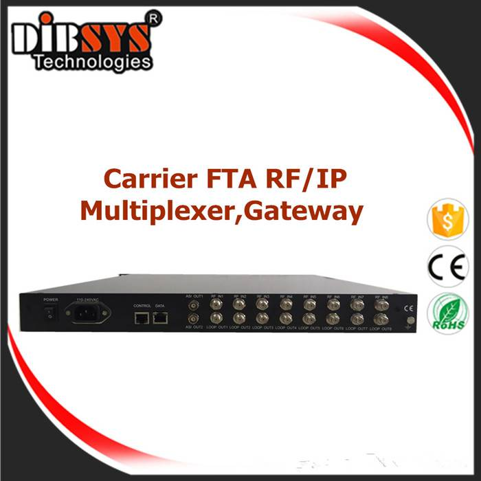 8x DVB-S2 DVB-C ISDB-T RF Tuners FTA to IP Gateway and Multiplexed-IRD1218