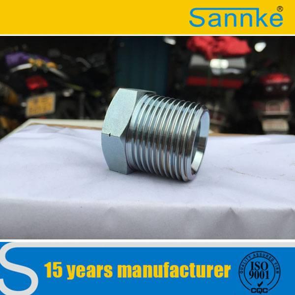 CNC Machinery Carbon Steel Hydraulic BSPT Male Plug