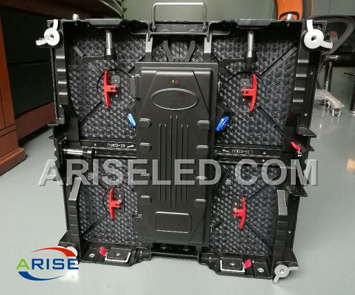 500mmx500mm front and back service die-cast aluminium rental cabinet